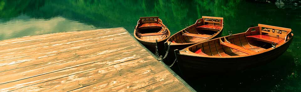 Boats on lake (mobile)